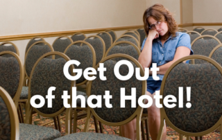 Get out of that hotel Blog Title Card